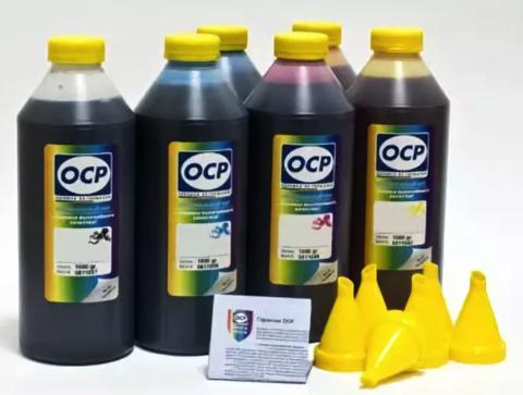 Комплект чернил OCP для картриджей HP 72 (DesignJet T790, T610, T2300, T770, T1300, T1200, T1120, T620, T1100), комплект 6 x 1000 гр.