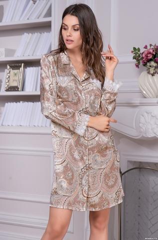 Рубашка халат на пуговицах Mia-Amore CLEMENTINA КЛЕМЕНТИНА 3457