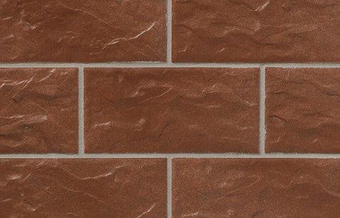 Stroeher - KS13 tabakbraun, Kerabig, glasiert, глазурованная, 302x148x12 - Клинкерная плитка для фасада и цоколя
