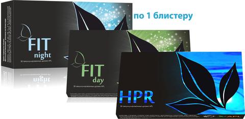 APL. Аккумулированные драже APLGO FIT day+FIT night+HPR для эффективного снижения веса и поддержания печени  по 1 блистеру