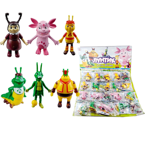Коллекция игрушек на блистере Лунтик 1кор*1бл*20шт