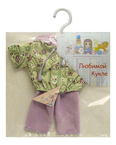 Костюм с курткой - Зеленый / сиреневый. Одежда для кукол, пупсов и мягких игрушек.