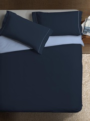 Пододеяльник 155х200 Caleffi Tinta Unito Bicolor бязь синий/темно-синий