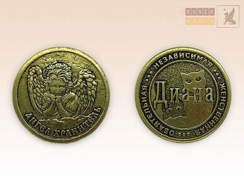именная монета Диана