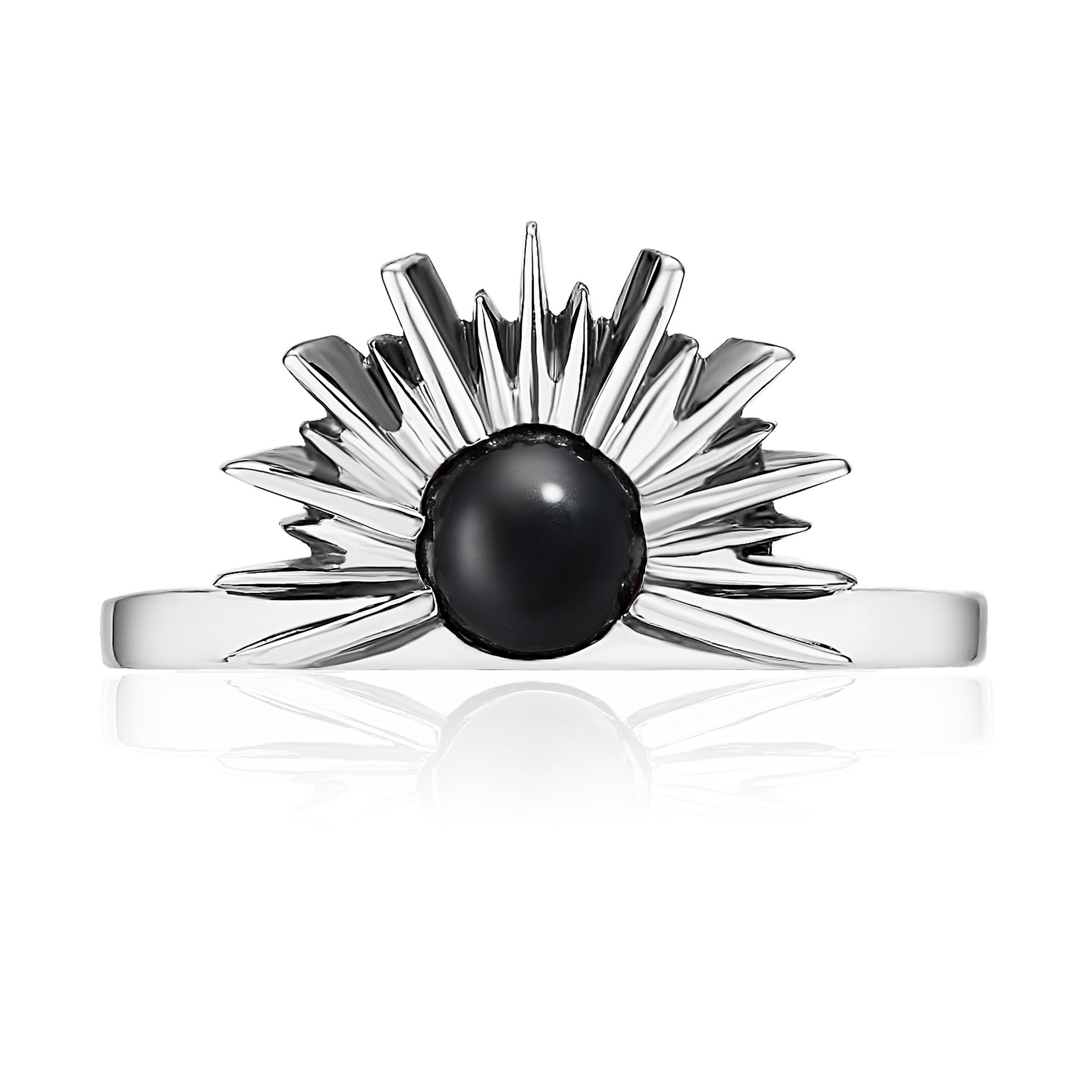 Кольцо SUNSET - Черный оникс