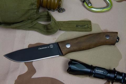 Охотничий нож Охотник М Черный Орех