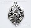 "Подвеска ""Архангел"" (цвет - античное серебро) 43х28 мм"