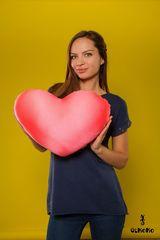 Подушка-игрушка антистресс «Большое розовое сердце» 2