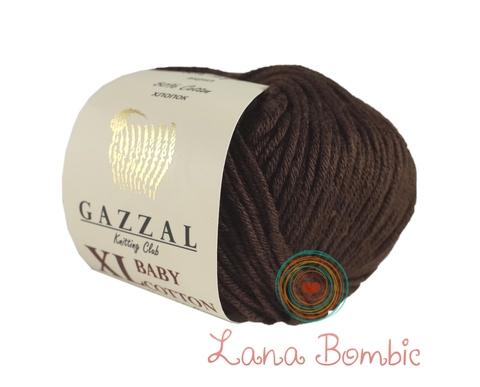 Пряжа Gazzal Baby Cotton XL шоколад 3436