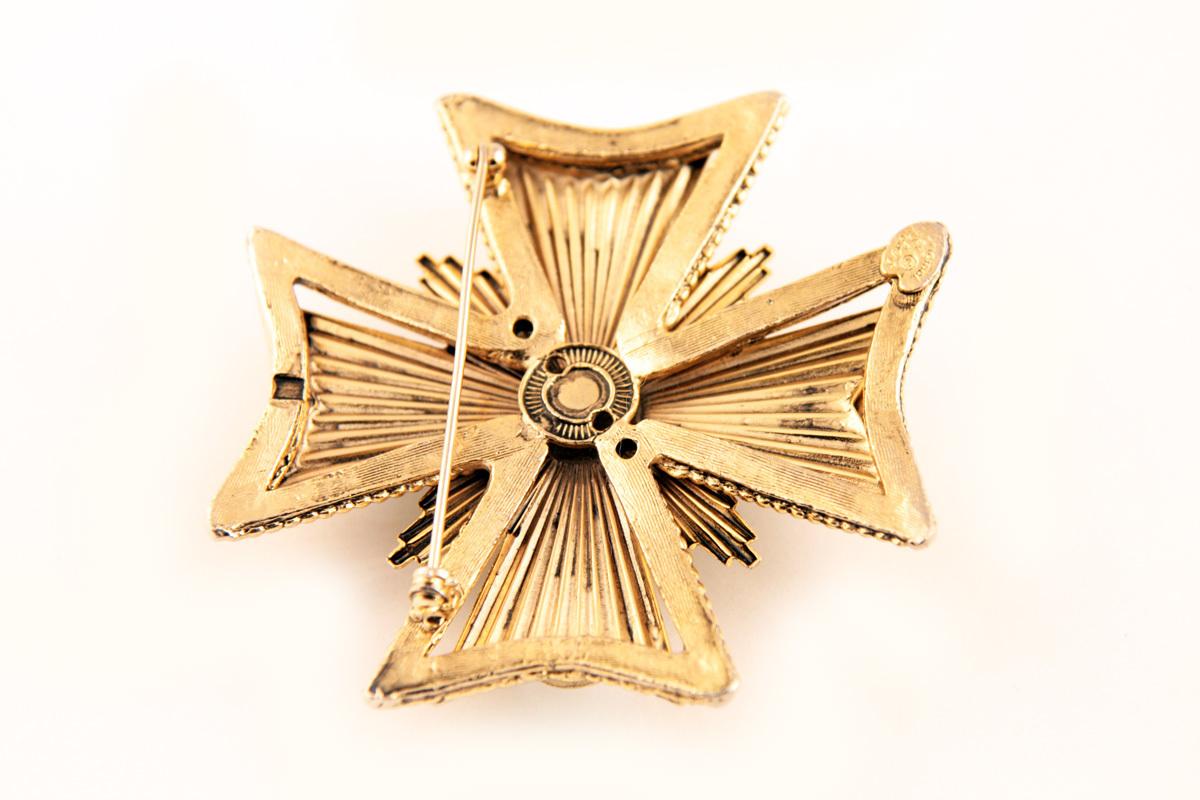 """Красивая брошь с жемчугом """"Мальтийский крест"""" от Original by Robert"""