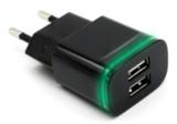 Адаптер/зарядной устройство для смартфона 2.1/1.0А со светодиодом