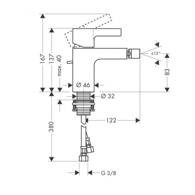 Смеситель для биде Hansgrohe Metris S 31261000