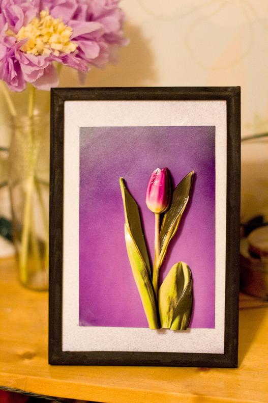 Папертоль Тюльпан в сиреневом — пример оформленной работы.