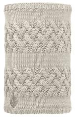 Вязаный шарф-труба с флисовой подкладкой Buff Savva Cream
