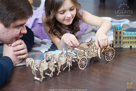 Королевская карета от Ugears - Деревянный конструктор, 3d пазл, сборная модель