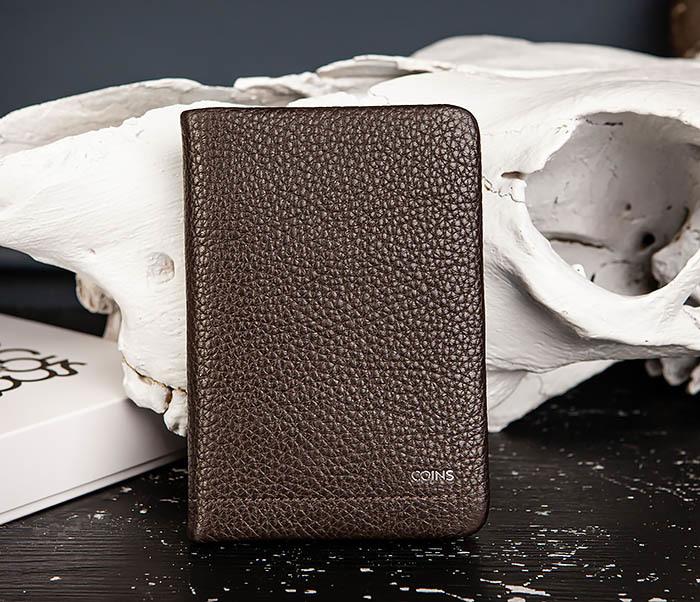 BC216-6 Коричневая обложка для паспорта из кожи «Hanz» фото 02