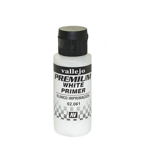 62061 Premium Colors White Primer Белый Грунт, 60 мл Acrylicos Vallejo