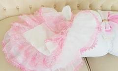 Комплект на выписку из роддома весна-осень Beautiful Lux бело-розовый