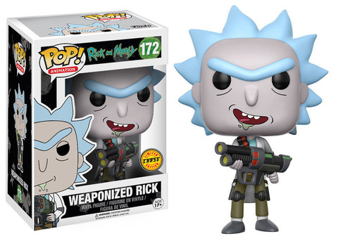 Weaponized Rick with open mouth Funko Pop! Vinyl Figure || Вооруженный Рик