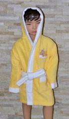 Халат детский махровый желтый Спящая Луна La Villa  (Турция)