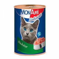 Mon Ami консервы для кошек с индейкой 350гр