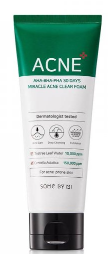 SOME BY MI Aha-Bha-Pha 30 Days Miracle Acne Clear Foam пенка для лица