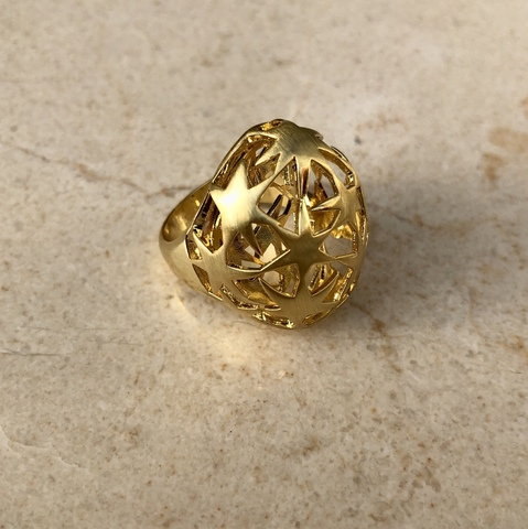 Кольцо Олимпиа, позолота