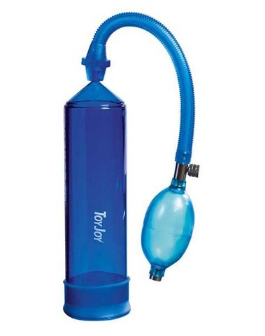 Синяя вакуумная помпа для мужчины Power Pump Blue (20 см)