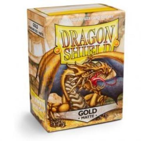 Протекторы Dragon Shield матовые Gold (100 шт.)