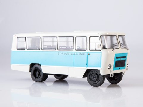 Kuban-G1A1-O2 white-blue 1:43 Modimio Our Buses #3
