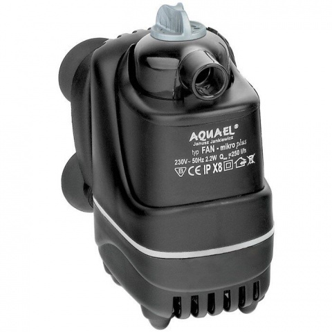 AQUAEL Помпа фильтр FAN-Micro plus (3л - 30л) 250л/ч 4Вт (30шт/уп)