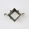 Сеттинг - основа - коннектор (1-1) для страза 10х10 мм (оксид серебра)