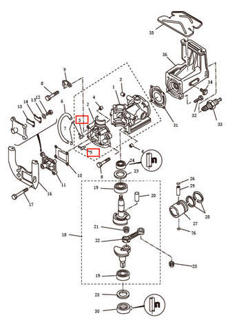 Штуцер для лодочного мотора T2,5 SEA-PRO (2-5)