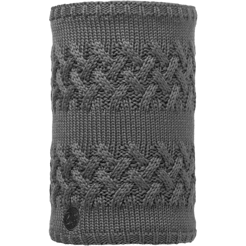 Вязаный шарф-труба с флисовой подкладкой Buff Savva Grey Castlerock