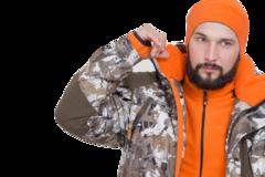 Костюм зимний Трофей / мембранное трикотажное полотно / коричневые соты