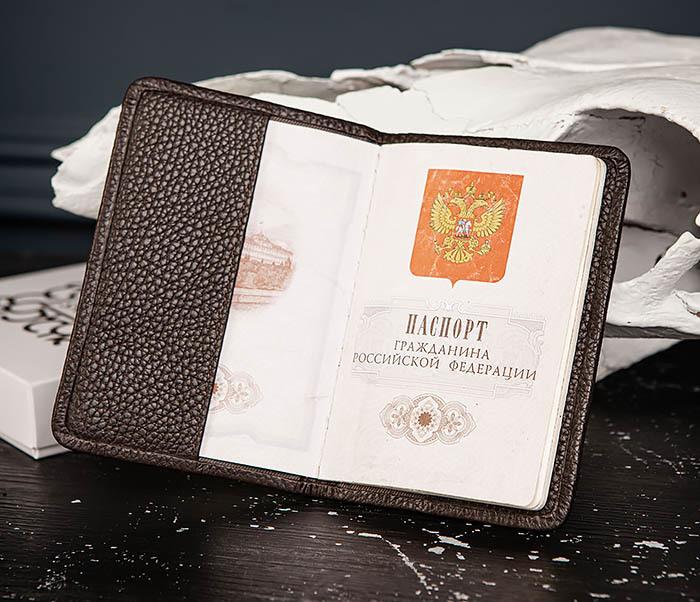 BC216-6 Коричневая обложка для паспорта из кожи «Hanz» фото 06
