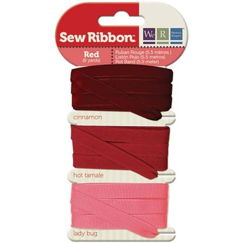 Набор лент. We R Memory Keepers Sew Ribbon - 5,5м- Red