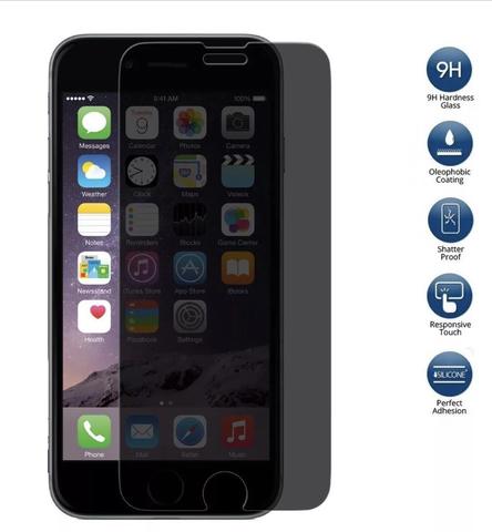 Тонированное защитное стекло 2,5D 9H anti-spy для iPhone 6/7/8/X/Xr/Max/Plus