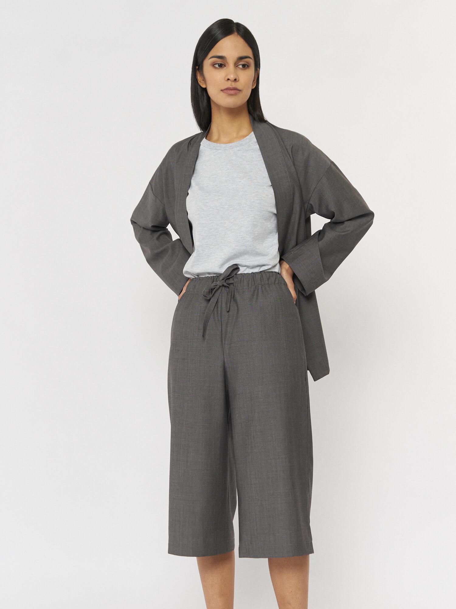 Шорты Saori в пижамном стиле