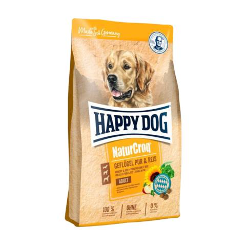 Happy Dog NaturCroq Сухой корм для собак с птицей и рисом