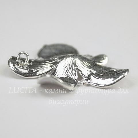 """Подвеска  """"Цветок""""  (цвет - серебро) 30х30х4 мм"""