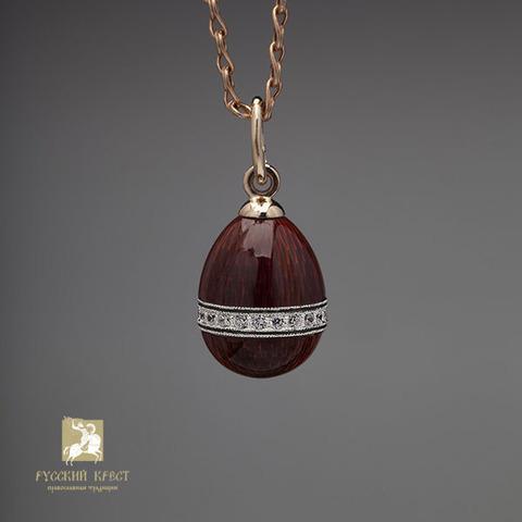 Кулон из серебра с ювелирной эмалью