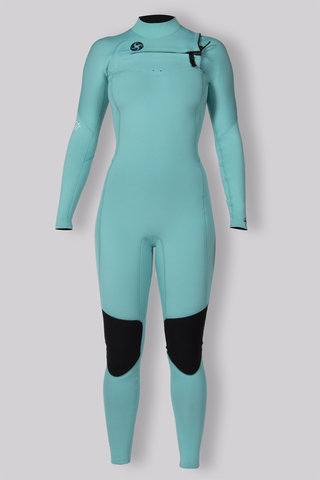 7 Seas 3/2 Chest Zip Full Suit Aqua mairine