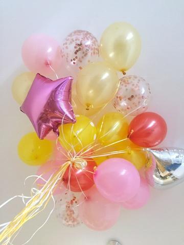 Набор шаров Ярко-розовый с Желтым