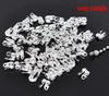 Концевик для маскировки узелка 6х4,5 мм, (цвет - серебро), 20 штук (B13899C)