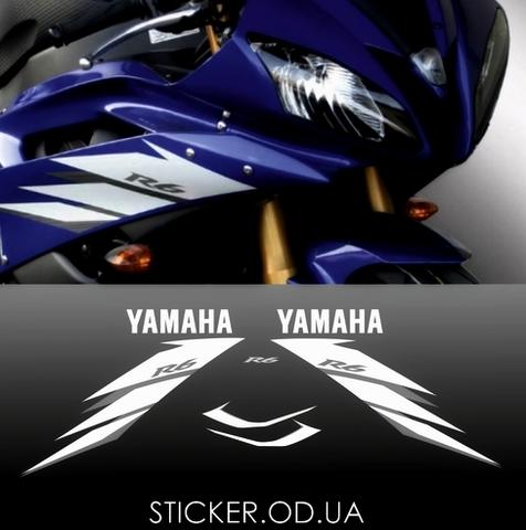Набор виниловых наклеек на мотоцикл YAMAHA YZF-R6 2006, премиум пленка
