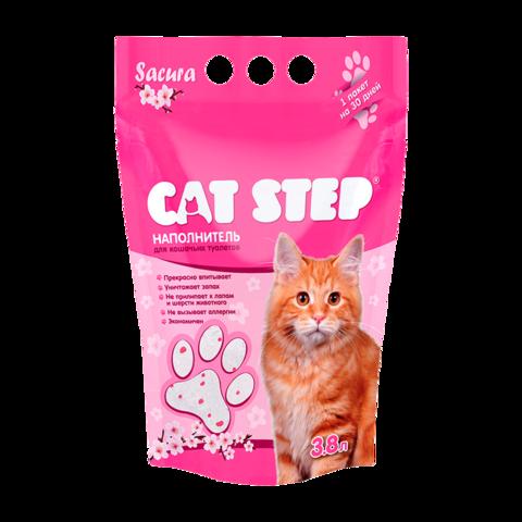 Cat Step Сакура Наполнитель для туалета кошек силикагелевый