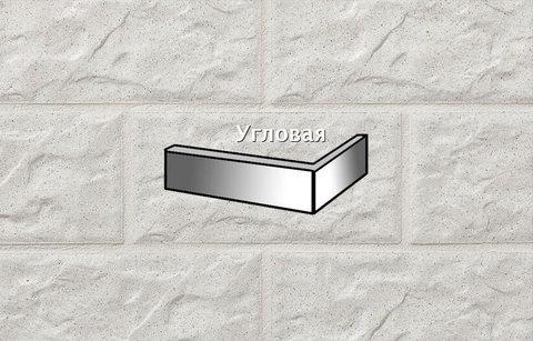 Stroeher - KS01 weis, Kerabig, glasiert, глазурованная, угловая, 221x71x148x12 - Клинкерная плитка для фасада и цоколя