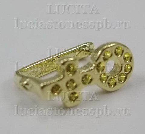 Держатель кулона (цвет - золото) 11х5 мм