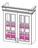 Шкаф кухонный ВЕРОНА  2-ств  с сушкой фасад со стеклом 800